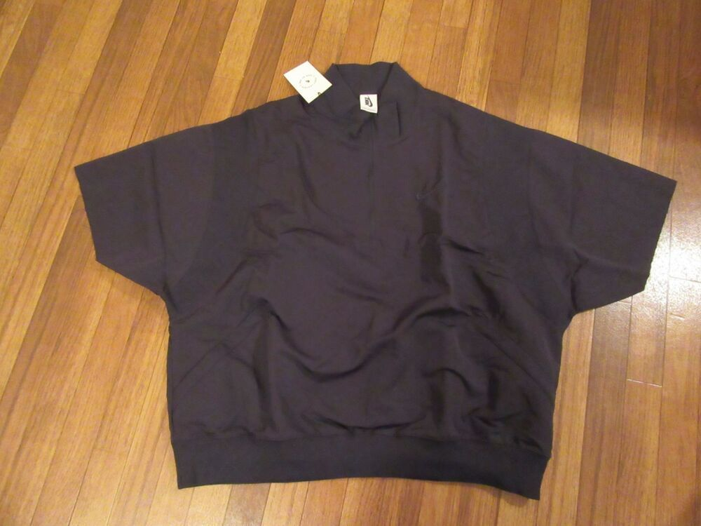 Nike x Fear of God 1/2-Zip Short-Sleeve Jacket Size Large Black AR0637 010 NWT #fashion #c… | Short sleeve jacket. Mens sweatshirts hoodie. Men ...