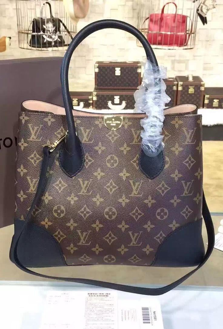 Louis Vuitton Flandrin With Black Leather Trim See More Gorgeous Handbags At Http Www Luxtime Su Designer Bags On Sale Cheap Bags Bags Designer