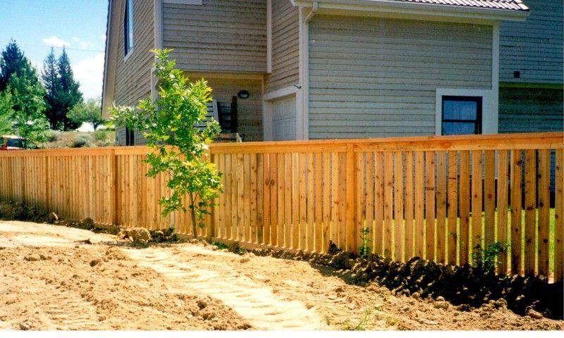 Picture Frame Semi-Privacy Wood Fence by Frontier Fence Company in