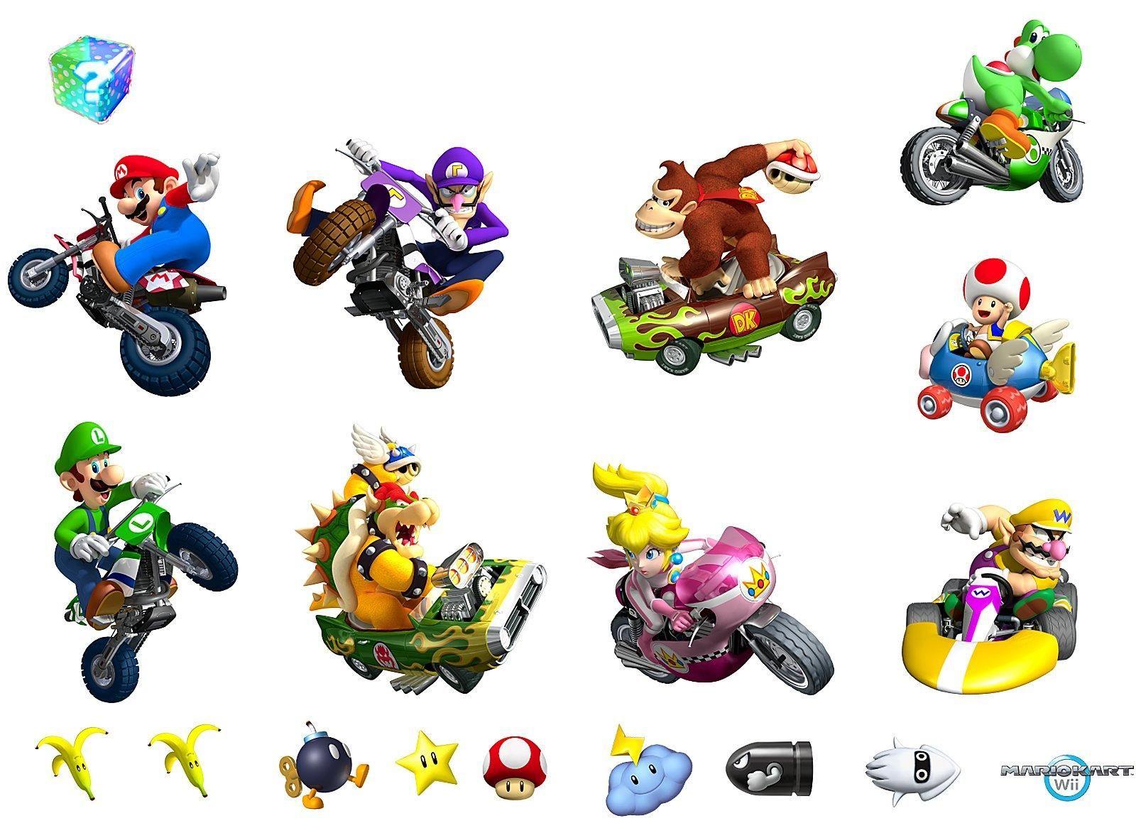 Donkey kong mario kart wii car tuning - Mario Kart Wii Removable Wall Decorations