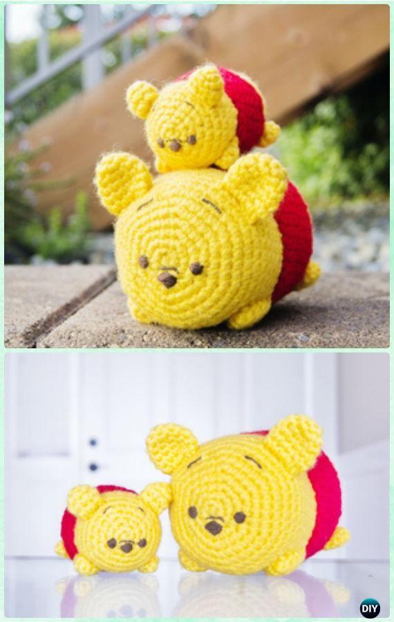Crochet Amigurumi Tsum Tsums Winnie The Pooh Bear Free Pattern ...