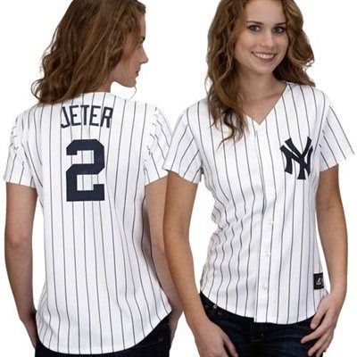 huge discount 1bd5c 4c172 Derek Jeter New York Yankees #2 Women's Majestic Replica ...