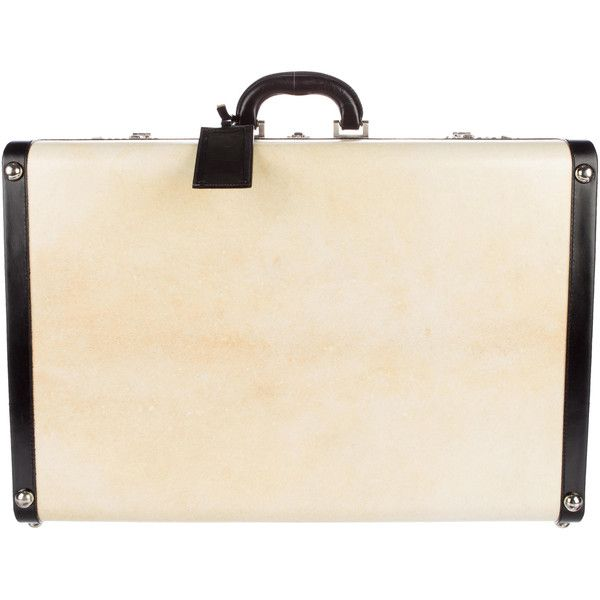 Pre-owned Prada Pergamena Suitcase 60cm (19110 MAD) ❤ liked on Polyvore featuring men's fashion, men's bags, neutrals, mens leather bags, mens leather suitcase, prada mens bag and mens bags