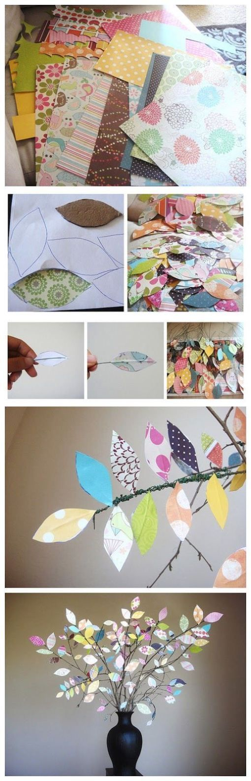 Branches of scrap book paper leafs crafts pinterest scrap diy scrapbook paper branches diy crafts craft ideas diy crafts do it yourself diy projects crafty do it yourself crafts solutioingenieria Image collections
