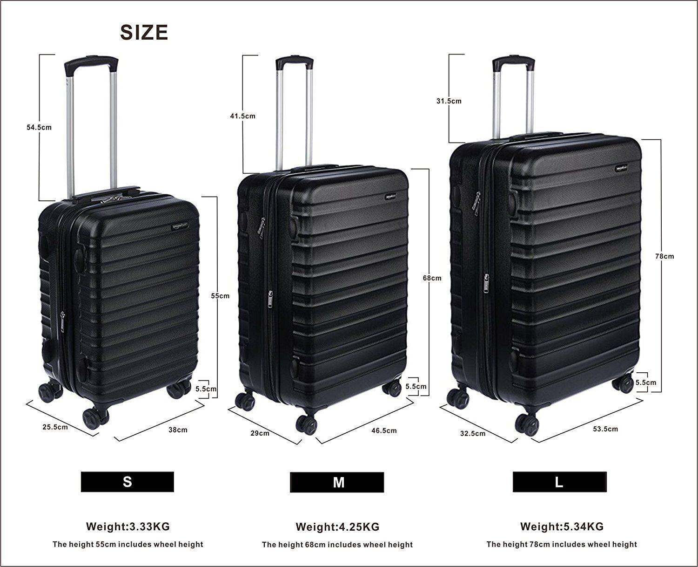 e469240ab991 Amazon.com: AmazonBasics Hardside Spinner Luggage - 24-inch, Black ...