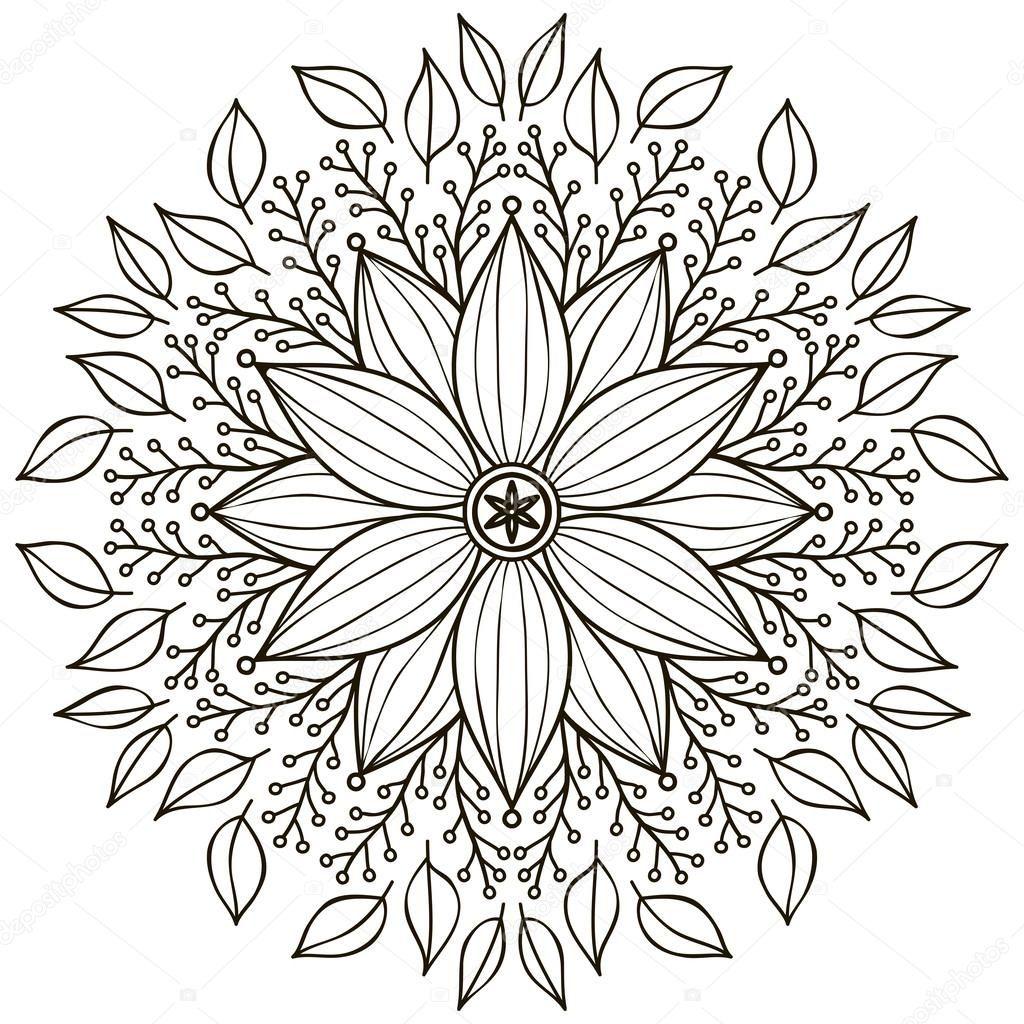 Descargar - Mandala. patrón de ornamento redondo. elementos ...