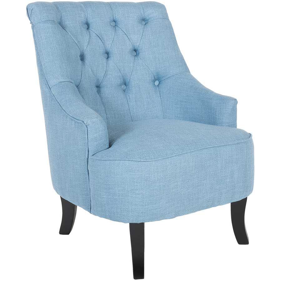 Perfect Ophelia Tufted Armless Chair   Blue 1L 407