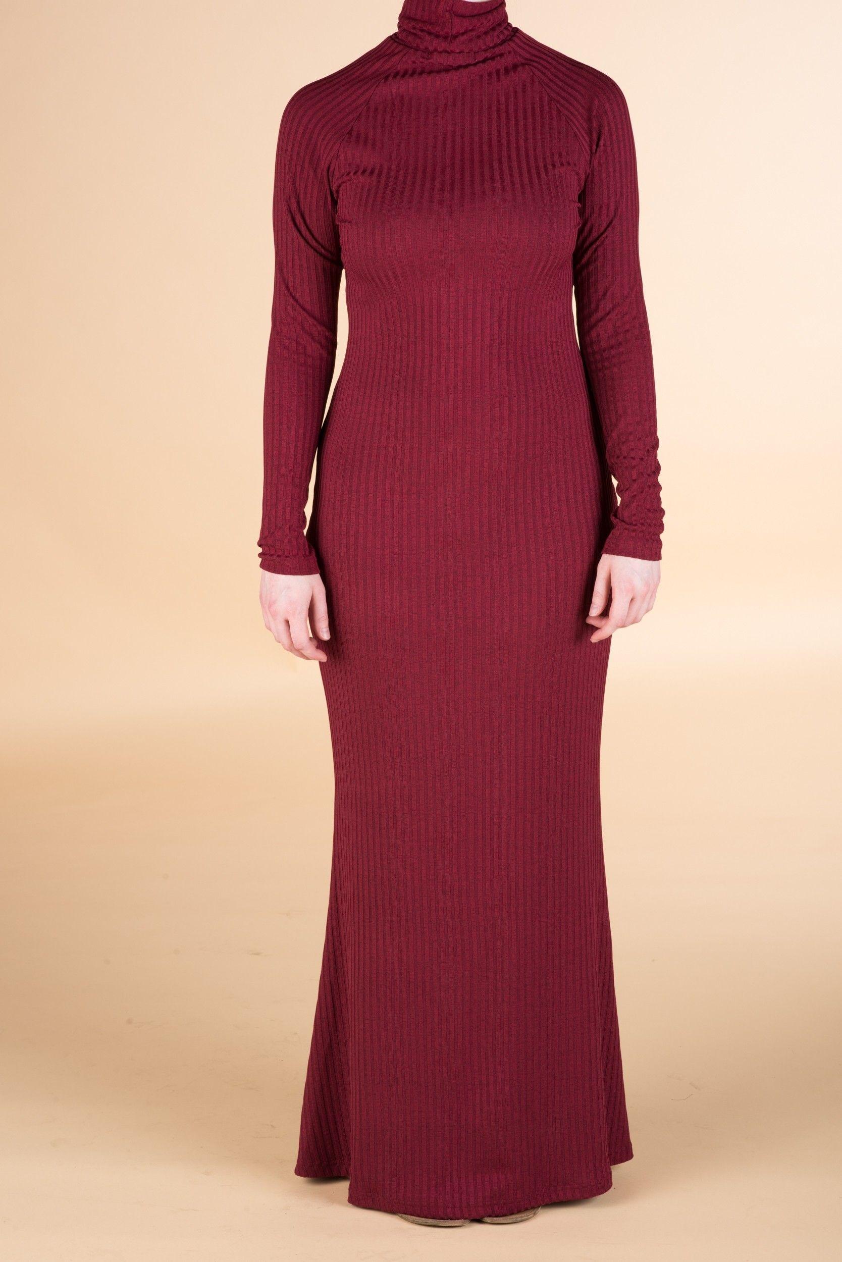 Maroon Turtle Neck Long Sleeve Maxi Dress Modest Maxi Dress Long Sleeve Maxi Dress Dresses [ 2500 x 1668 Pixel ]