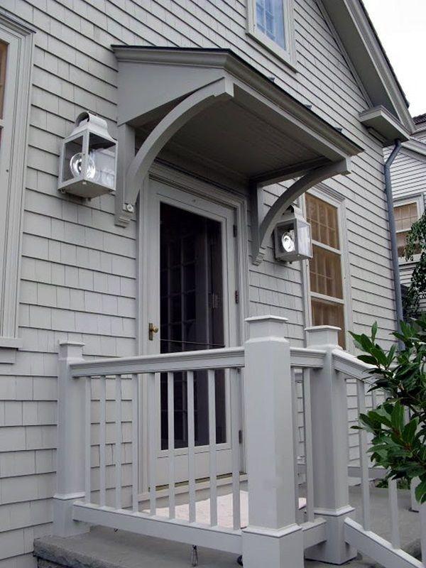 Lovely Door Overhang Designs 12
