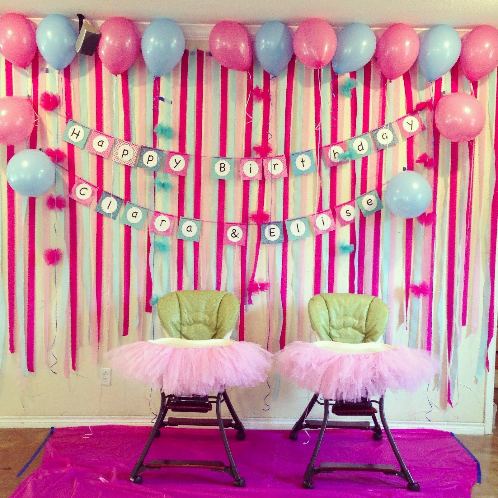 Fresh First Birthday Decoration Ideas At Home For Girl Homemade