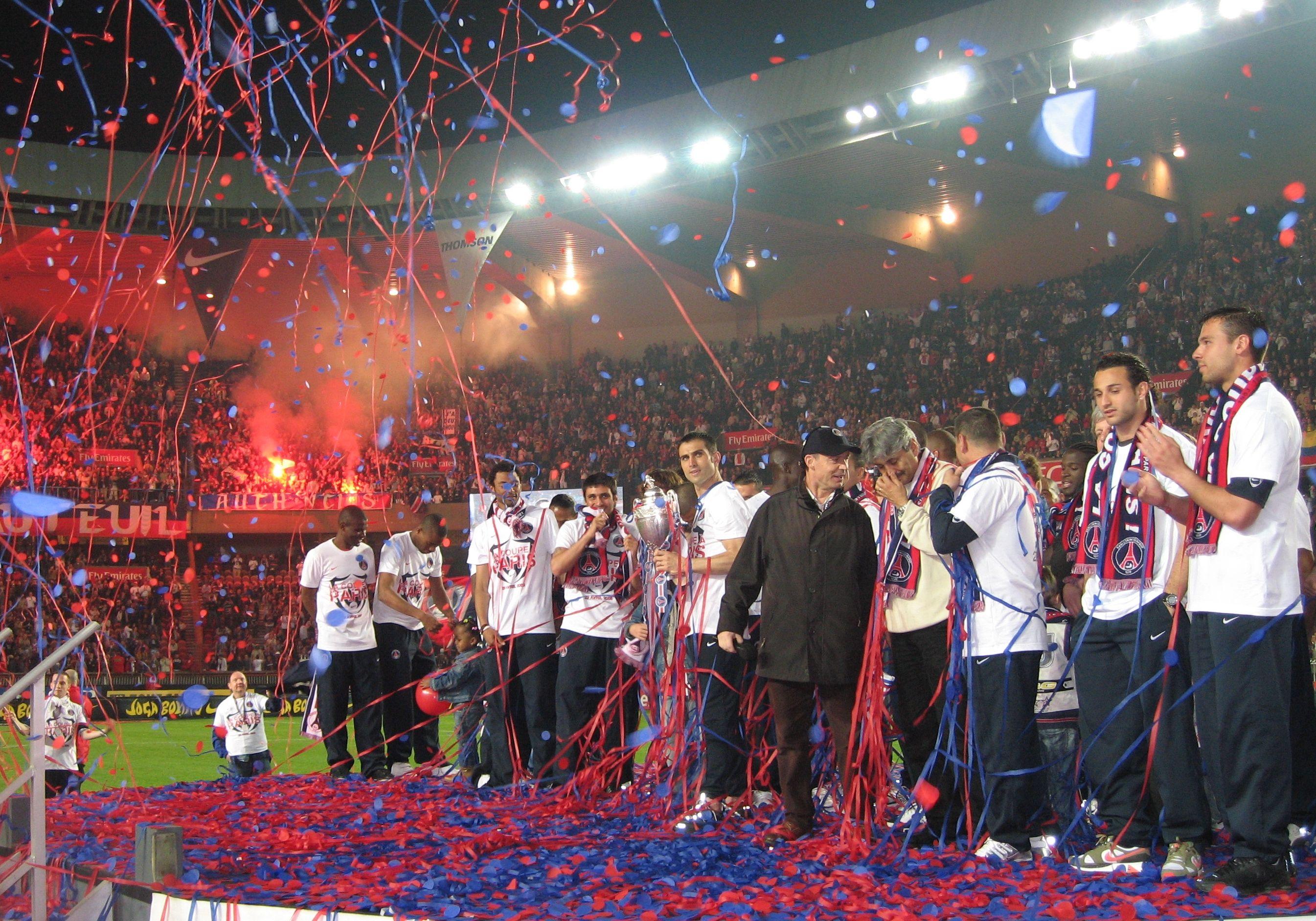 Célébration de la victoire en Coupe de France, 6 mai 2006