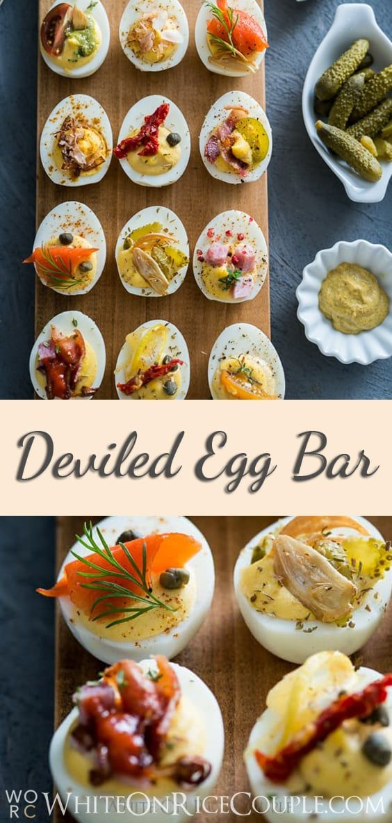 Deviled Egg Bar for Brunch and Easy Deviled Egg Recipe