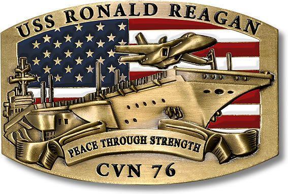 U S Navy Uss Ronald Reagan Cvn 76 Usn Belt Buckle