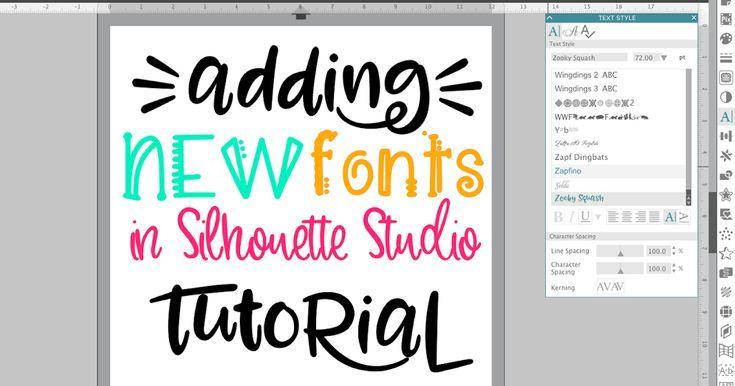 Beginner Silhouette Studio V4 Font Tutorial How to Add