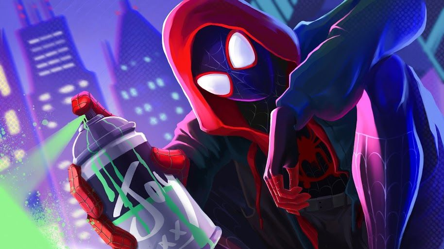 Ultra Hd Wallpaper Miles Morales Spider Man Into The Spider Verse 4k 3 For Desktop Laptop Imac 4k Wallpapers For Pc Wallpaper Pc Desktop Wallpaper Art