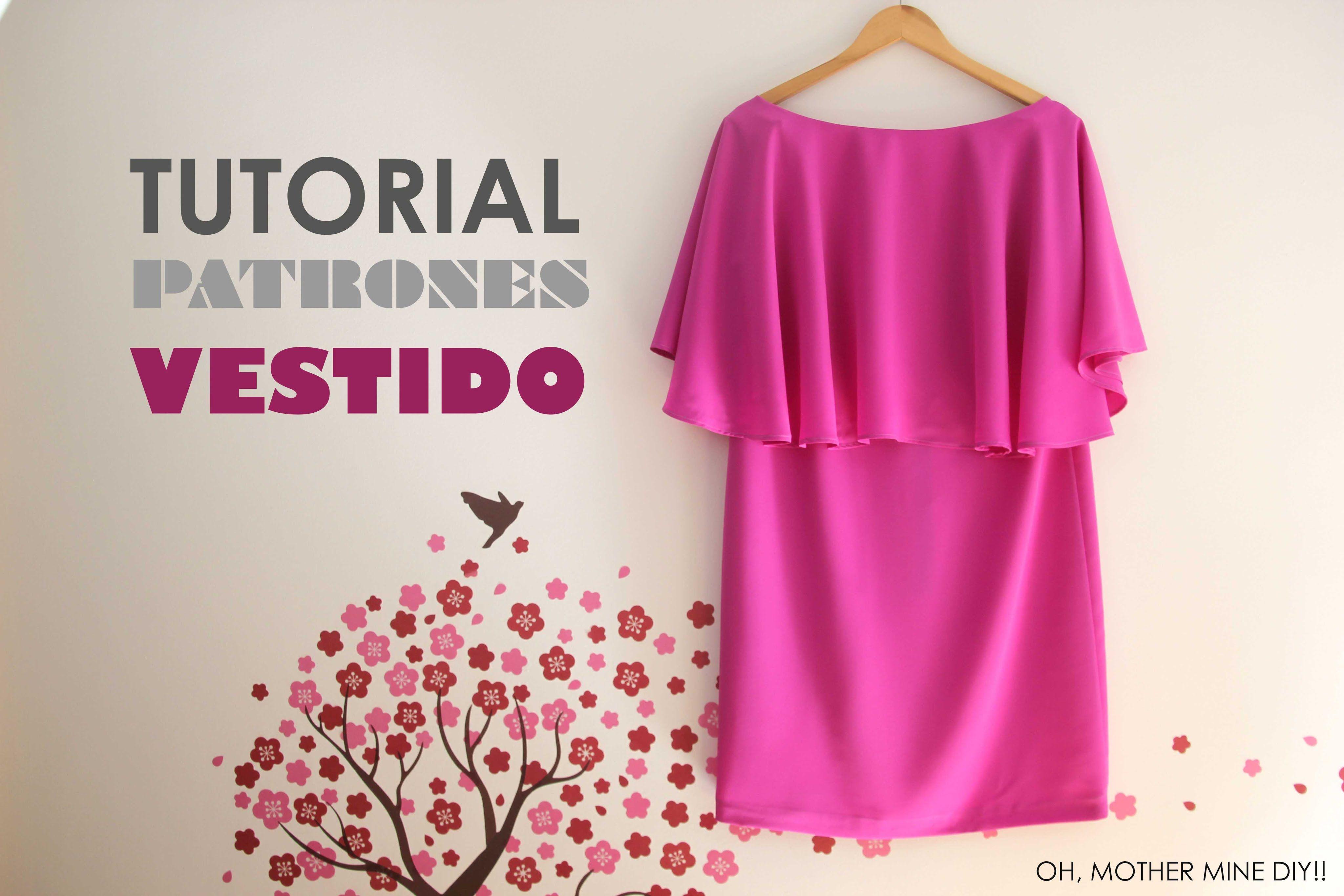 DIY ropa, como hacer tu misma este vestido con capa de mujer paso a ...