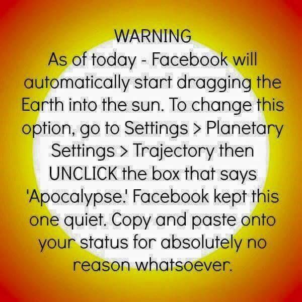 Hilarious collection of Memes - Facebook Privacy Settings Hoax Humor, via Munofore