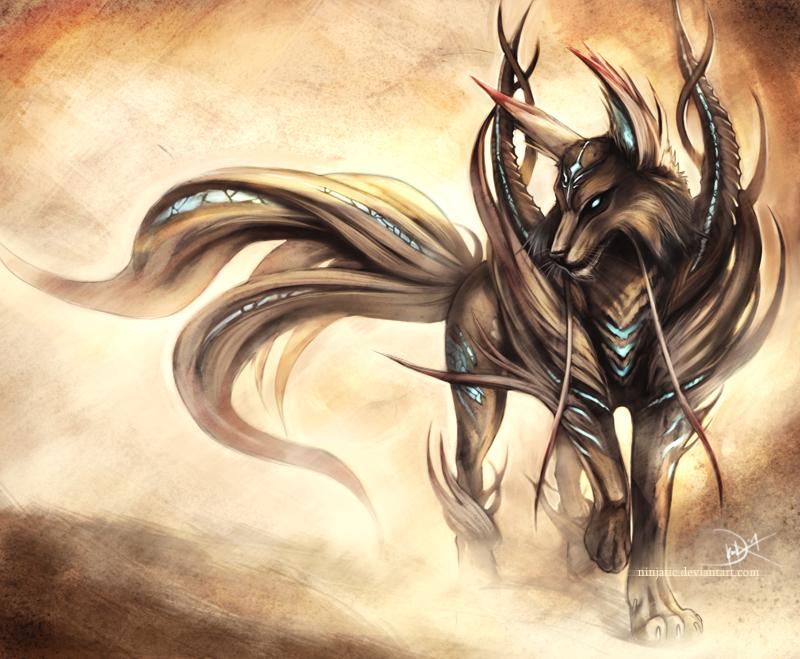 Daily Mythological Creature Raiju Thief Fantasy and