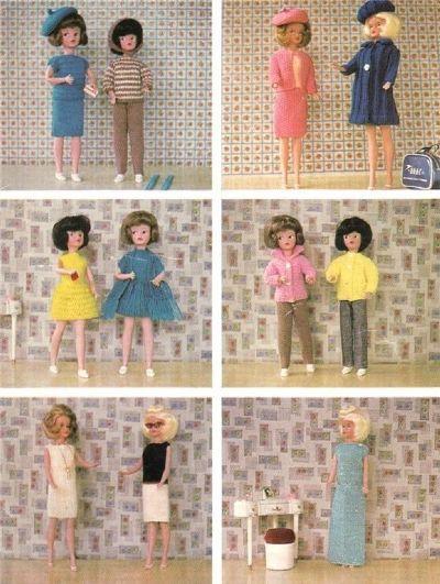 Dianes Dolls Sindy Knitting Patterns Tammy Doll Pinterest