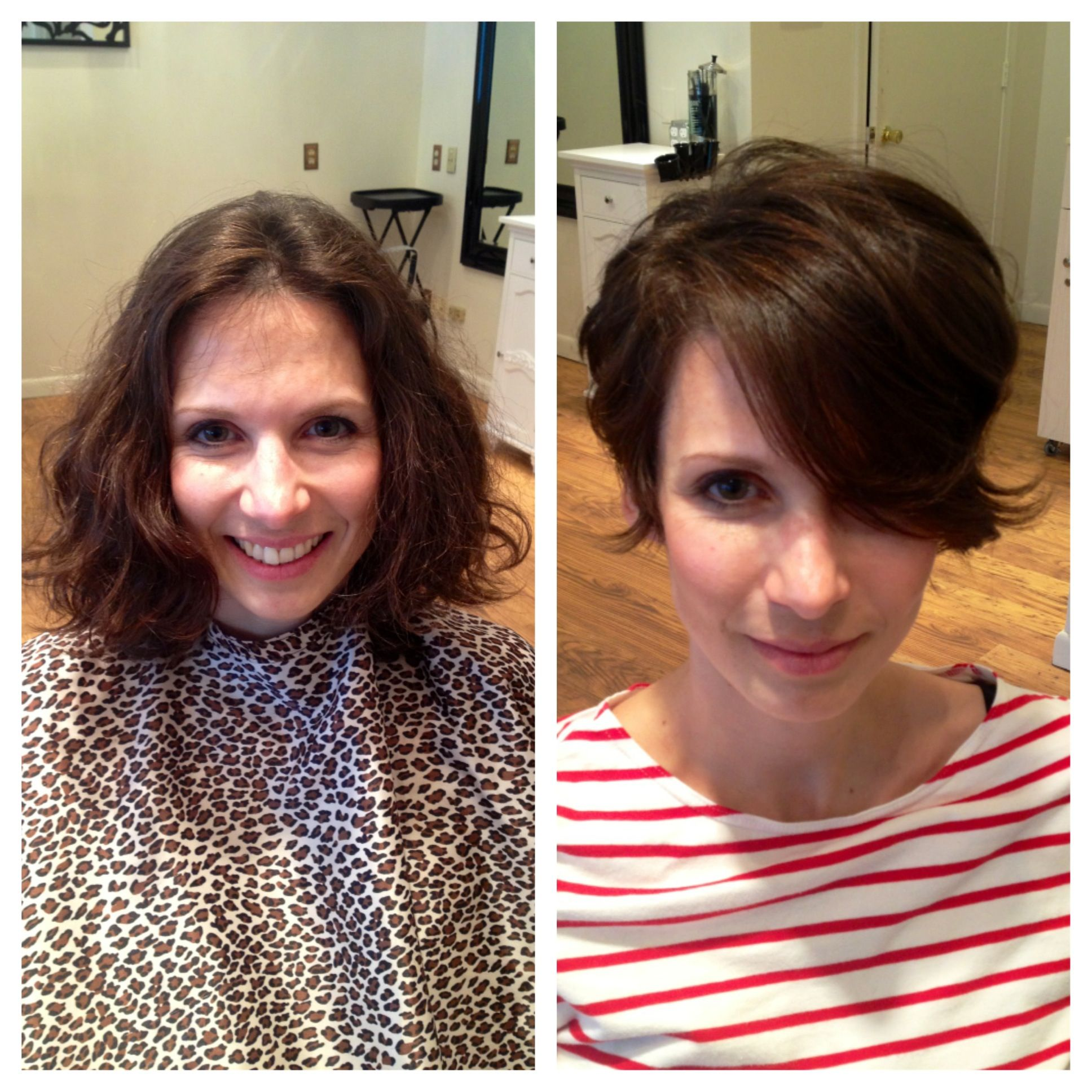 Before And After Haircut Makeover From Long Hair To Short Hair