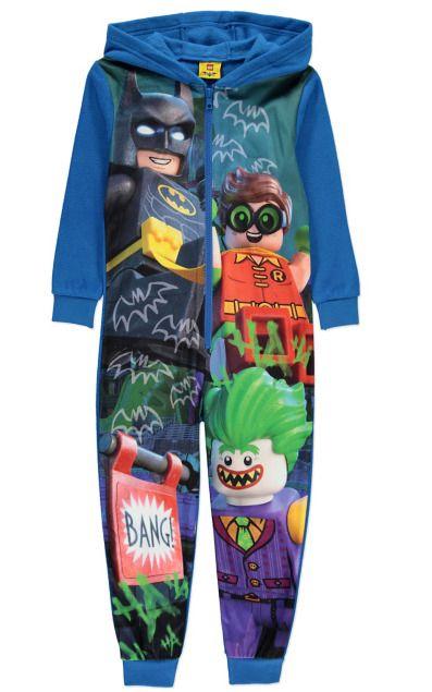 LEGO BATMAN BOYS DC Comics ROBIN Hood all in one pyjamas PJ Jumpsuit BLUE  5-12  LEGO  OnePiece dc7645eb8