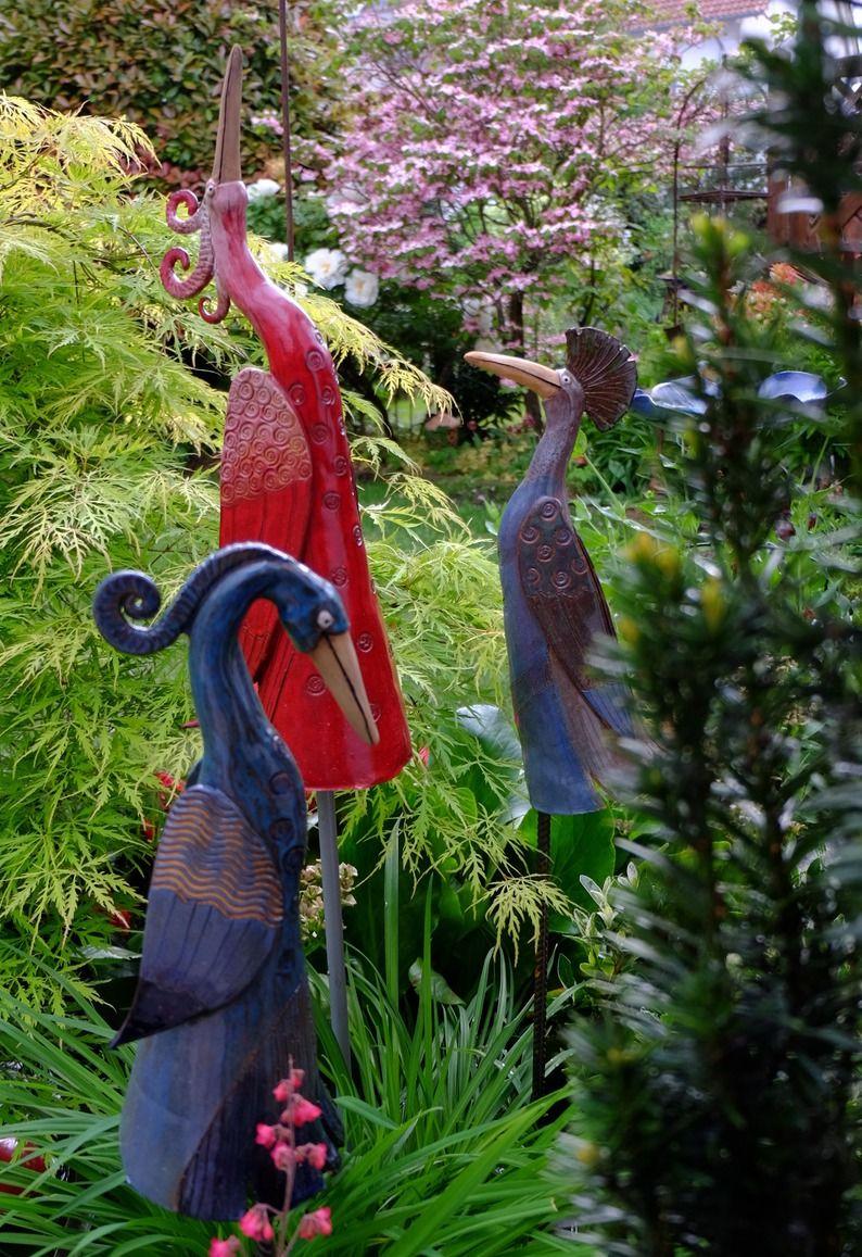 Mo Keramik Garten Zaunhocker Stehlen Garten Gartenskulptur