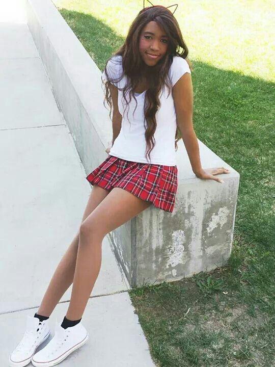 Girl with skirt image Black Girl Kawaii Ulzang Mini Skirt Dress Kids Outfits Girls Girl Outfits