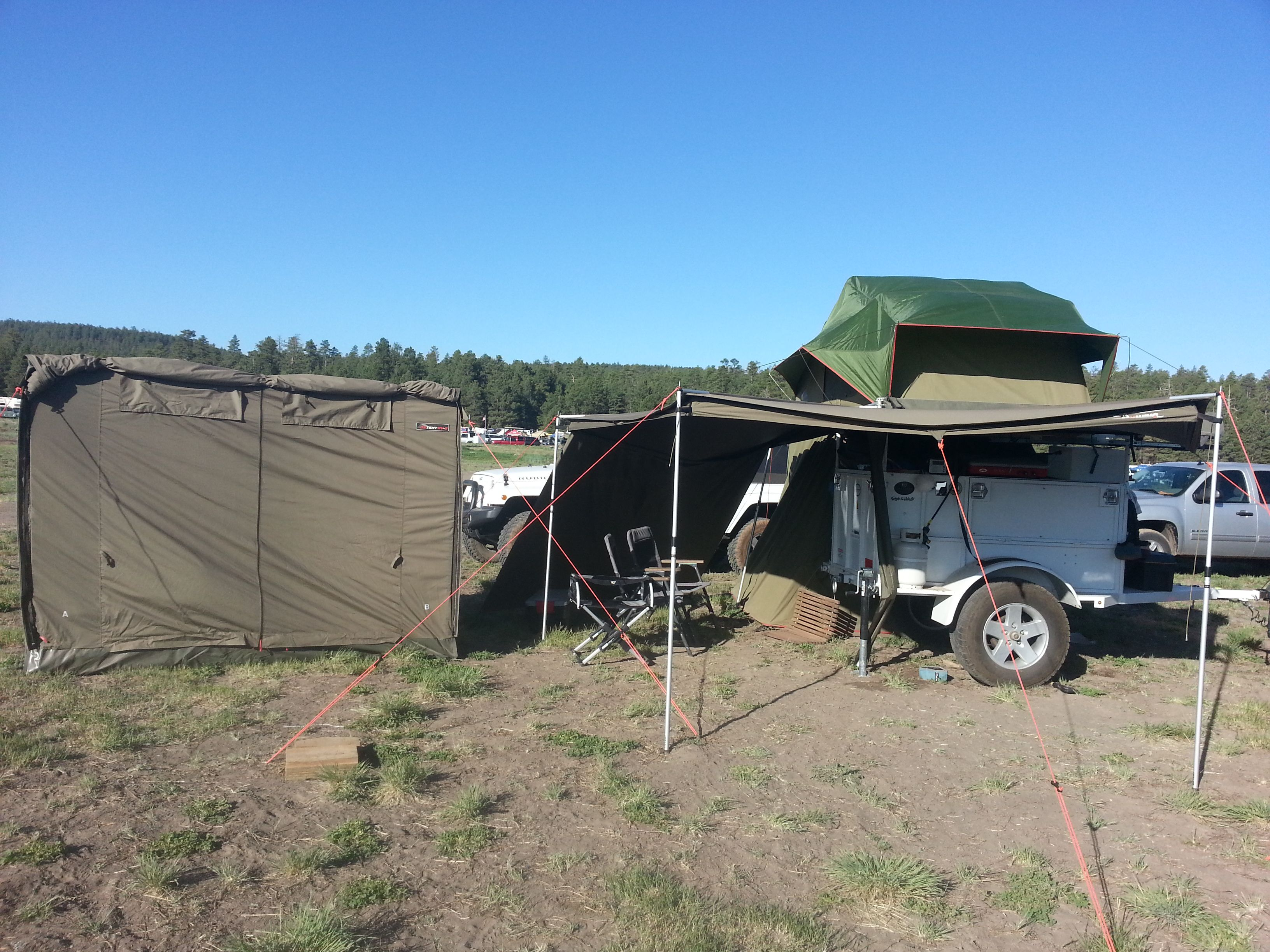 The ideal overlanding set up an OzTent RV the Foxwing Awning with an accessory & The ideal overlanding set up an OzTent RV the Foxwing Awning ...