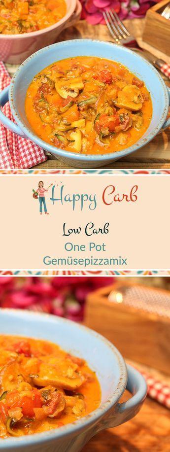 One Pot – Low-Carb-Gemüsepizzamix – Happy Carb Rezepte