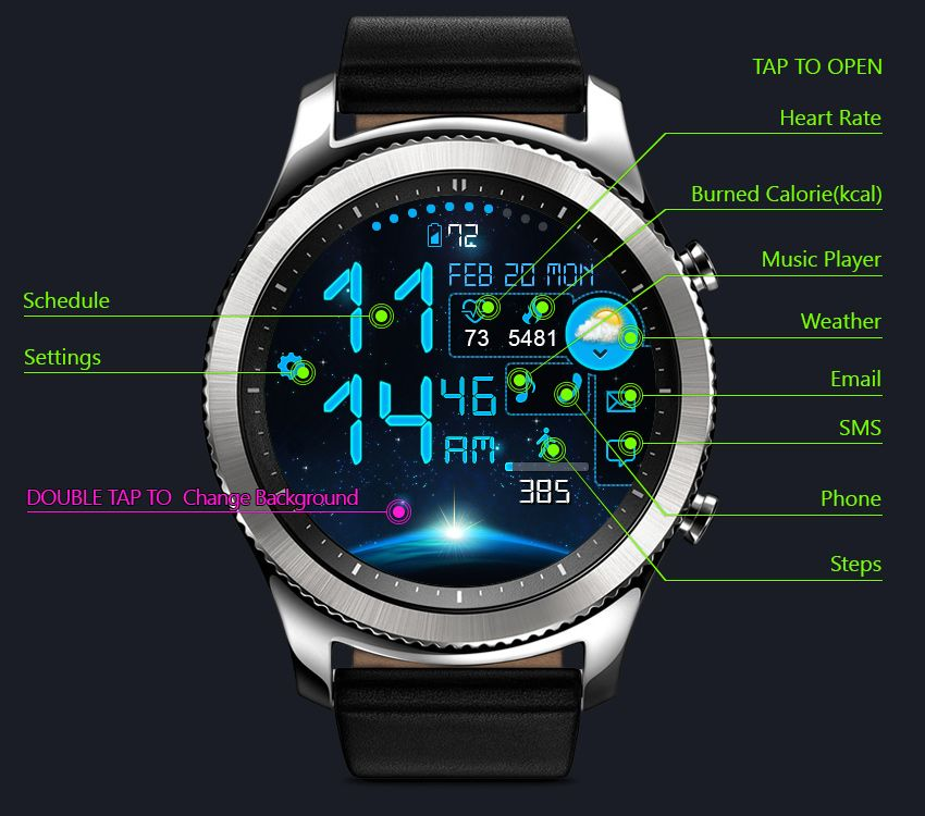 Astro Watch Face for Gear S2 Gear S3 Samsung watches