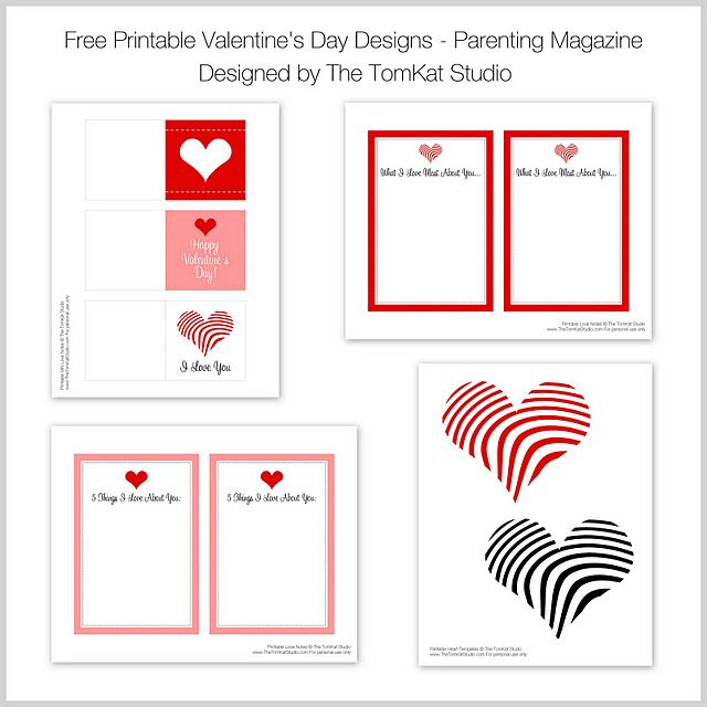 Parenting Magazine Mention + Free Printable Valentine Designs