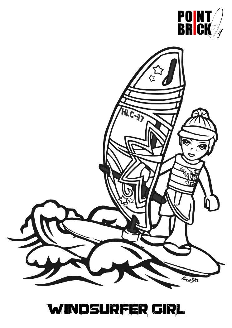 Disegni Da Colorare Lego Surfer Boy E Friends Coloring Pages
