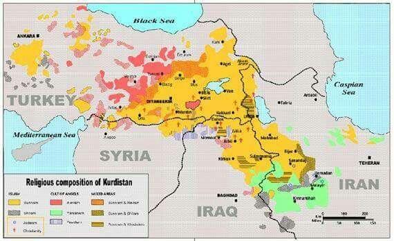 Religion | Zemljevidi | Kurdistan, Map, Geography