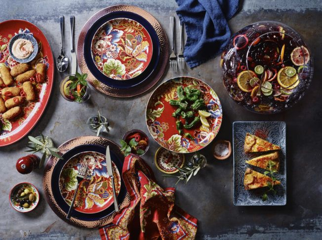 Capture the convivial spirit of Spanish cuisine with a menu of Spanish small plates and paella which are at home served with sangria or other cocktails. & Spanish_Table_Hero_V2_136794 | Food \u0026 Styling | Pinterest | Spanish ...
