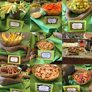 Jungle Party Labels - Safari Food Labels - Instantly Downloadable and Editable - Personalize at home with Adobe Reader, or online with Corjl