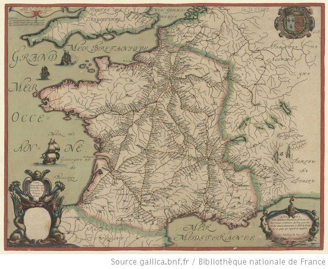 Carte géographique des postes qui traversent la France1