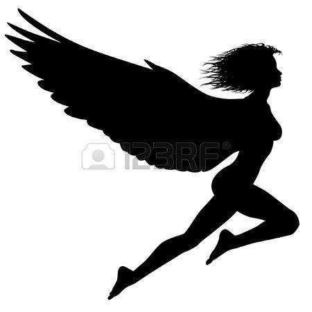 653412fb661 Stock Photo en 2019 | siluetas | Mujer con alas, Alas y Silueta de mujer