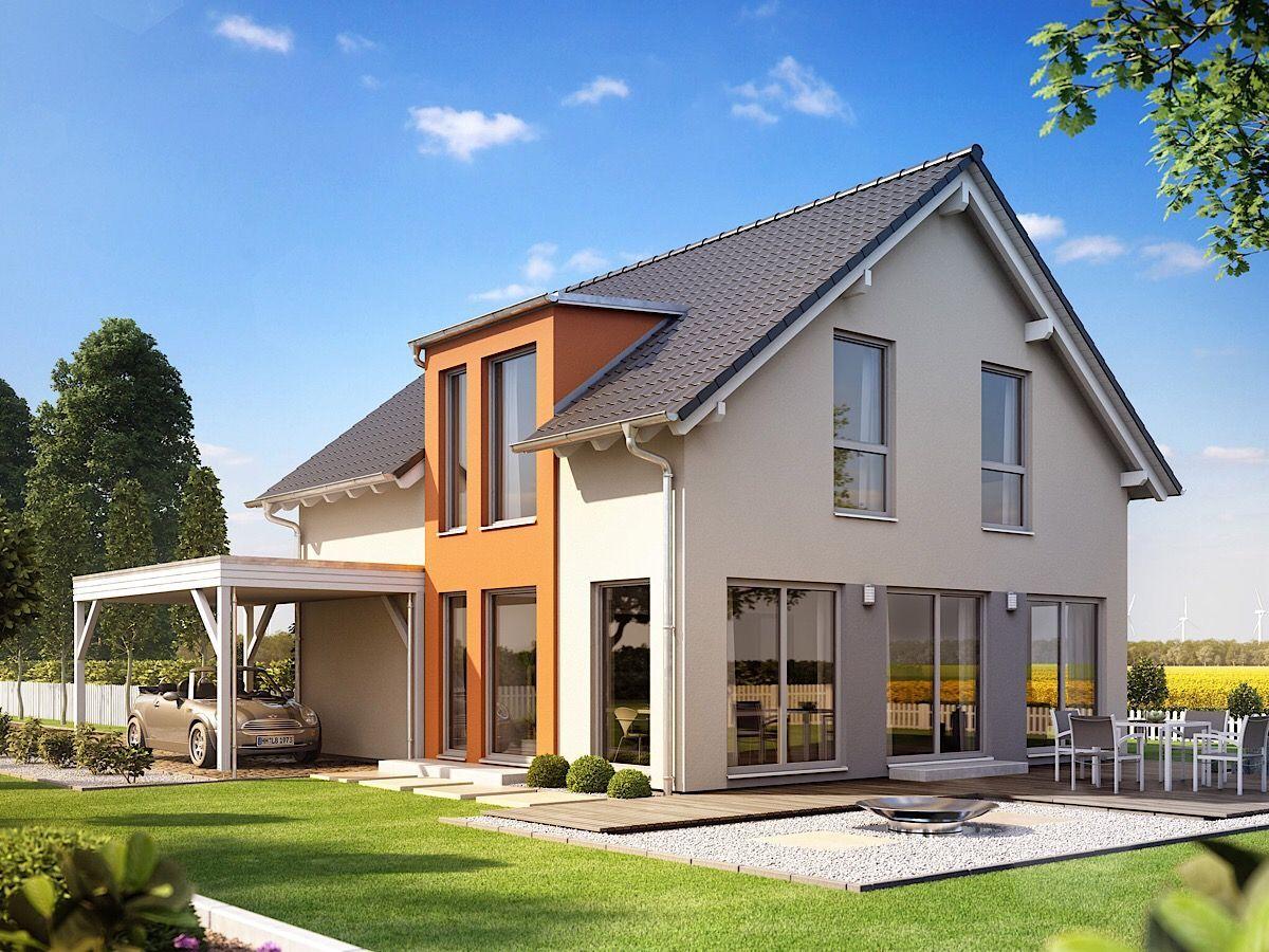 Einfamilienhaus klassisch mit Satteldach, Zwerchgiebel