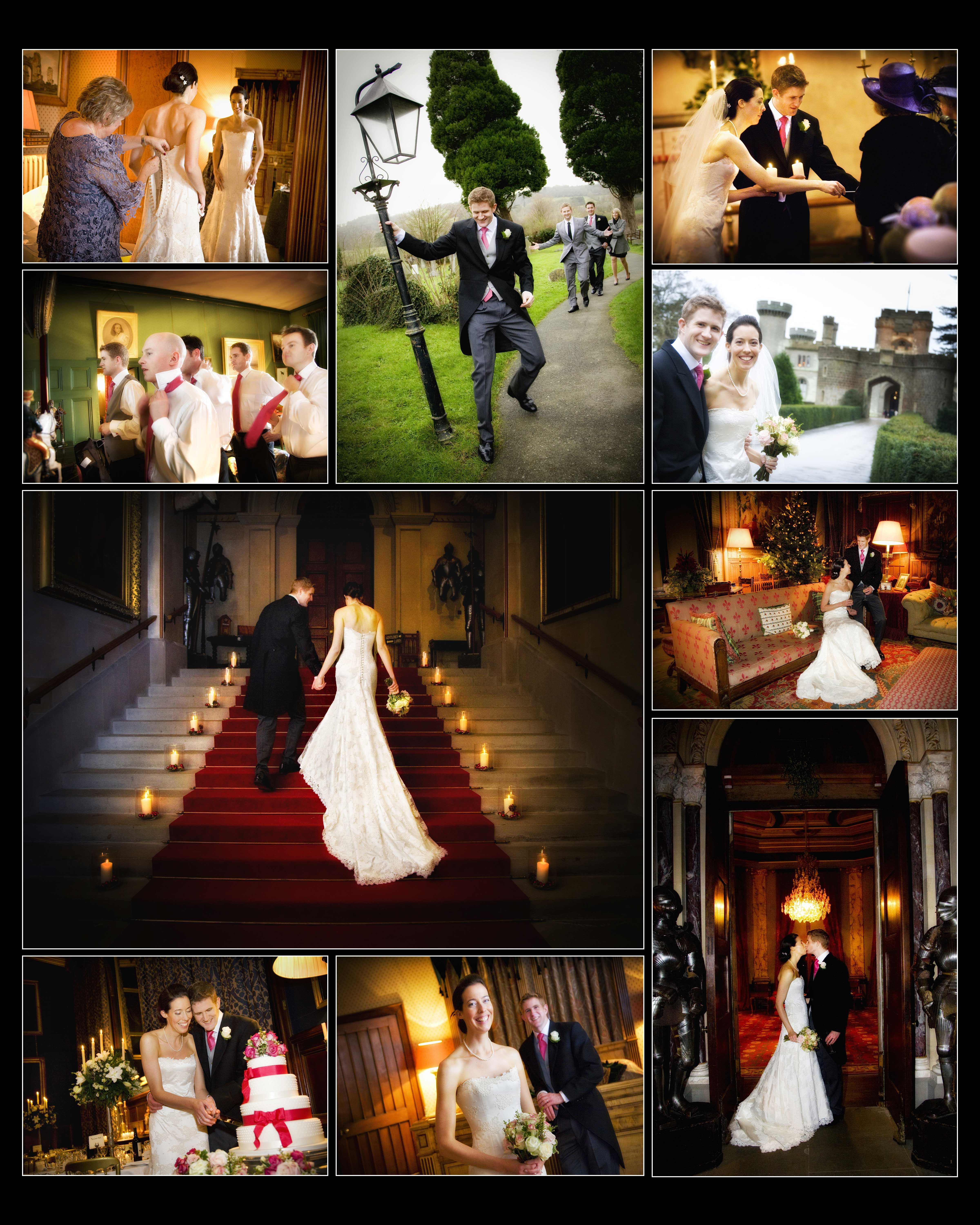 A Christmas winter wedding at Eastnor Castle www ...