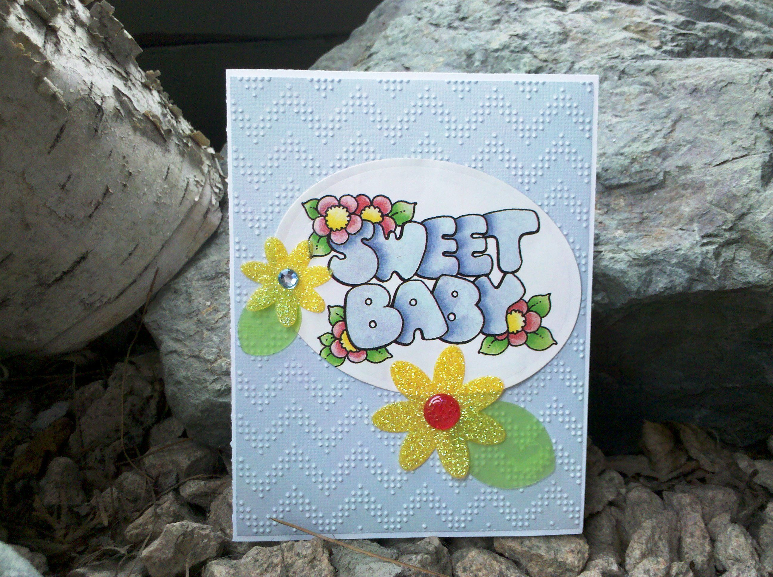 Sweet Baby chevron  #baby #card #HandMade #BabyGift #TMCanada #chevron #emboss