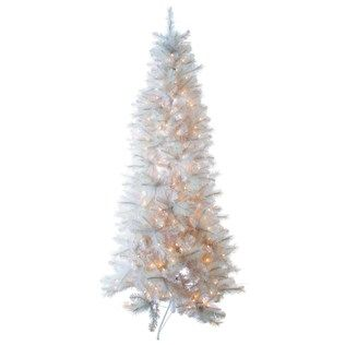 7.5' Fast Shape White Alaska Pine Tree with Lights | Shop Hobby ...