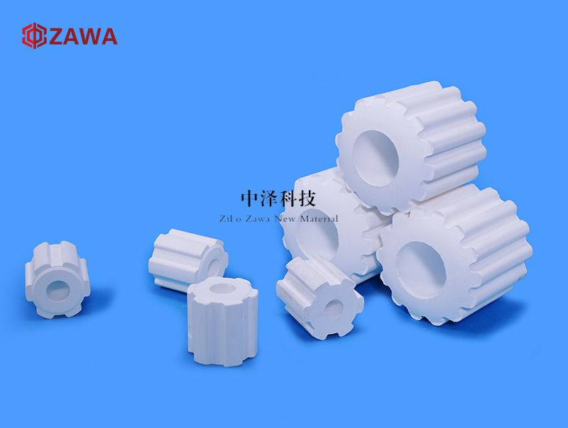 Ceramic Filling Gear Ceramic Gear Ring Packing Has A Specific Structure Arranged Symmetrically The Open Hole Is More Open Gear Ring Cascade Ring Ceramics
