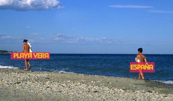 Playa vera espa a playas piscinas lagos r os faros for Piscinas nudistas en madrid