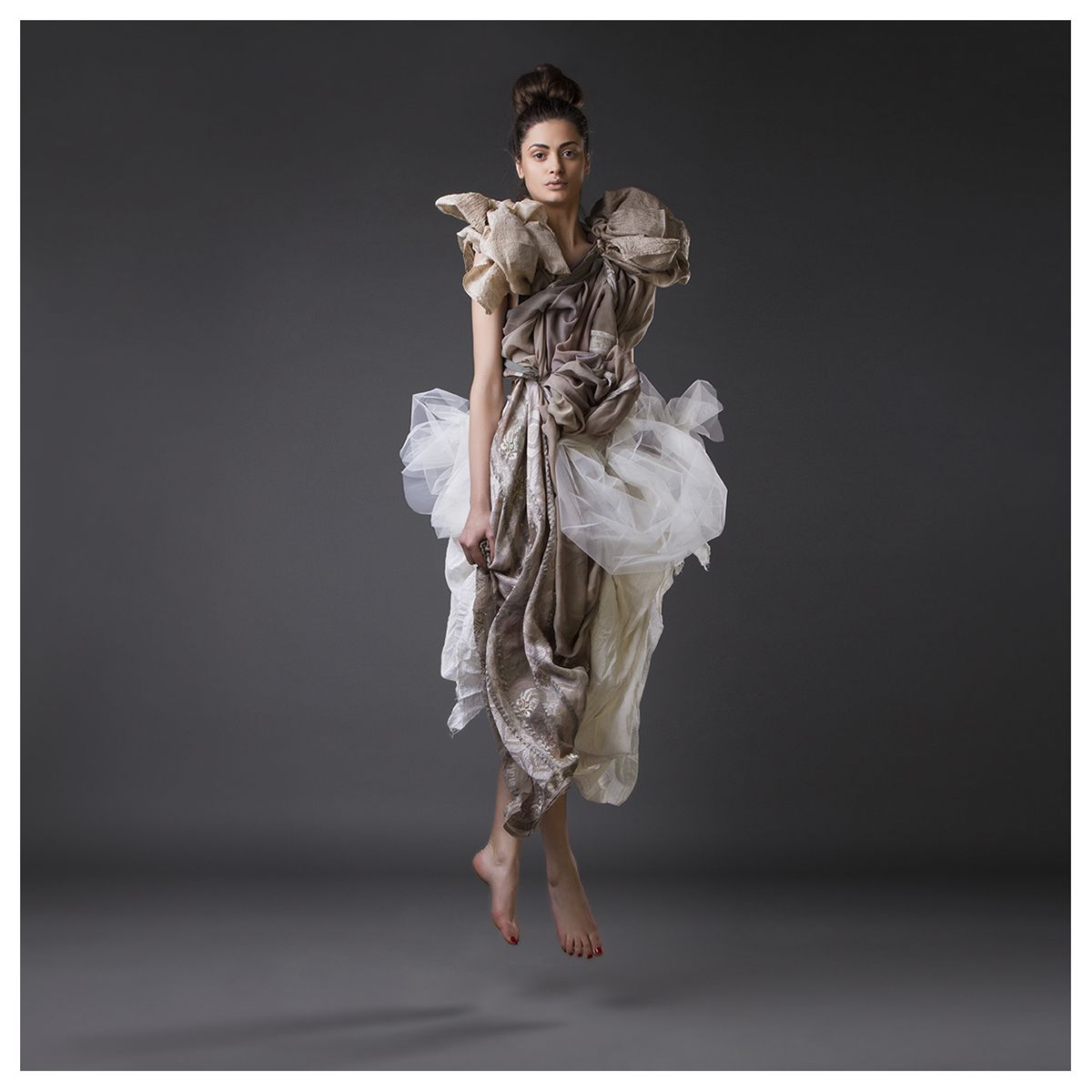 A style story about elegance lightness of different fabrics.