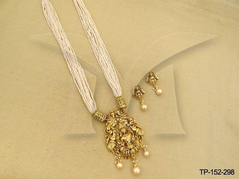 Kamal dhanlaxmi designer pendant set temple pendant sets kamal dhanlaxmi designer pendant set temple jewellerypendant mozeypictures Gallery