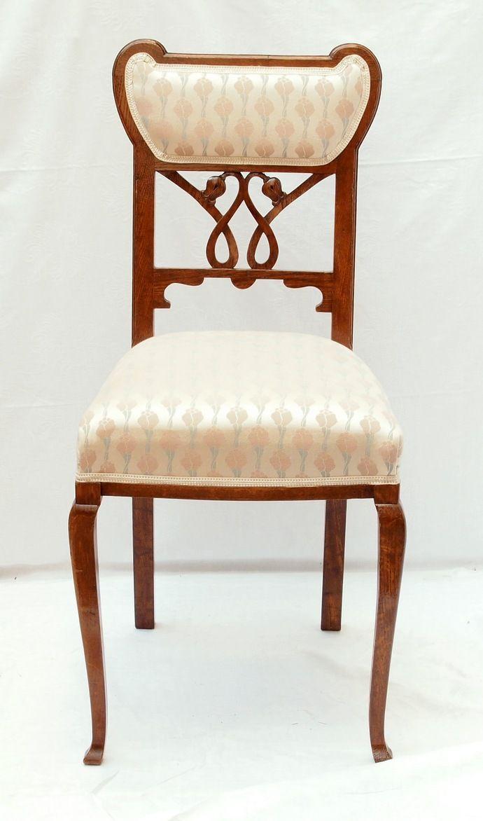 stuhl eiche jugendstil antiquit ten haus heymann gmbh jugendstil antiquit ten. Black Bedroom Furniture Sets. Home Design Ideas
