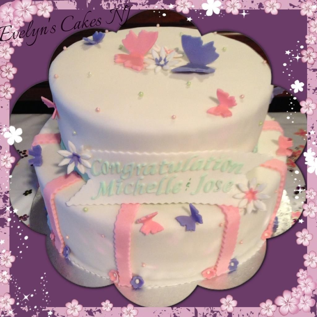 Baby Shower Butterflies Baby Shower Cake Dominican Cake W A