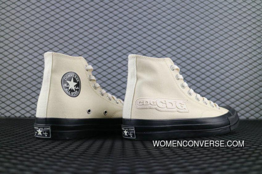 353116f4e86deb Converse Chevronstar Addict Chuck Taylor All Star Canvas Cdg Hi 1Ck984  Beige White Shoe Converse For