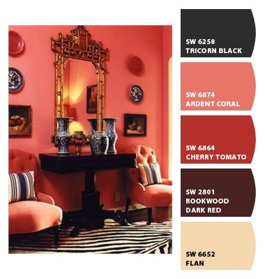 Ardent coral paint color paint colors from chip it - Coral paint color for living room ...