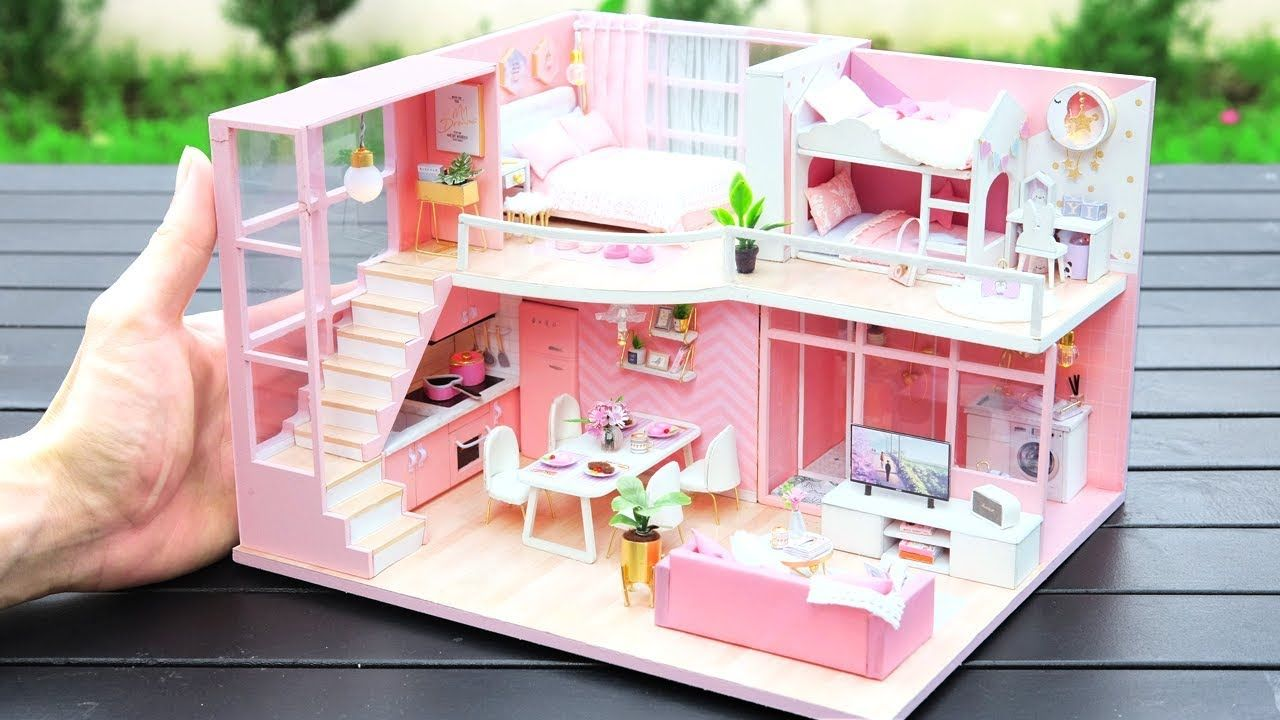 1//6 Scale Doll house furniture Miniature Accessories Scene Layouts DIY Pink